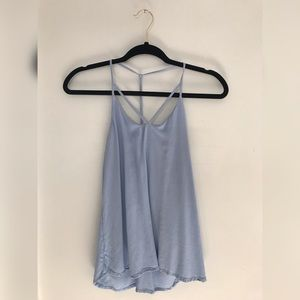 Blue strappy tank